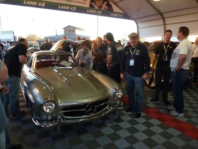 Our editor in chief with Clark Gable's Gullwing