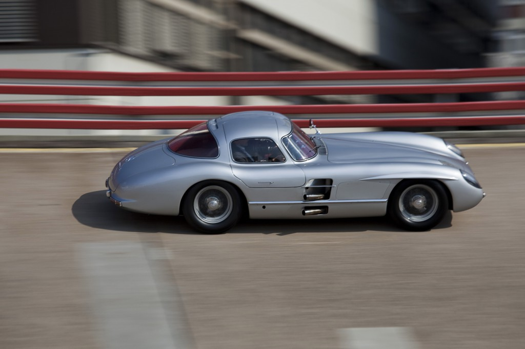 Uhlenhaut Cpupe on the Mercedes Test Track