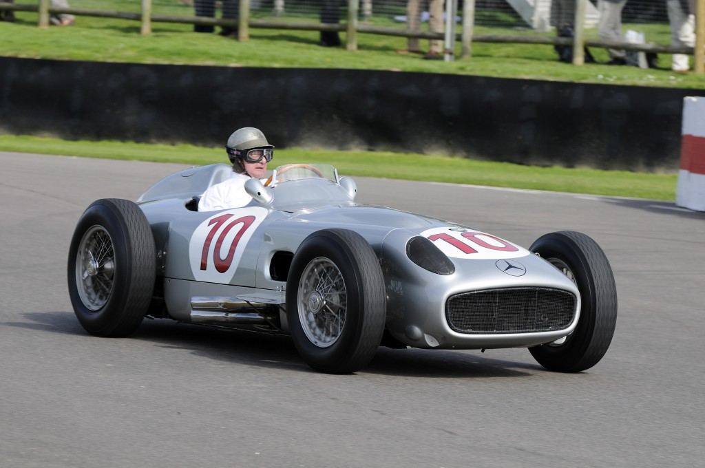 Hans Herrmann in a W196 Monoposto at Goodwood