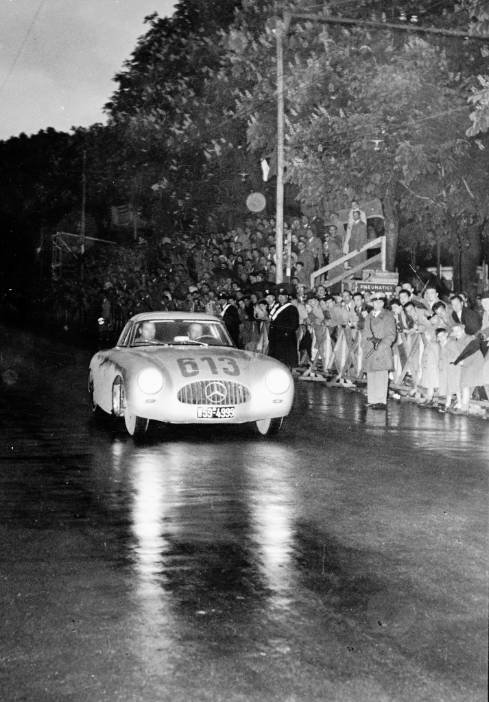Rudolf Caracciola and Paul Kurrle in the 1952 Mille Miglia