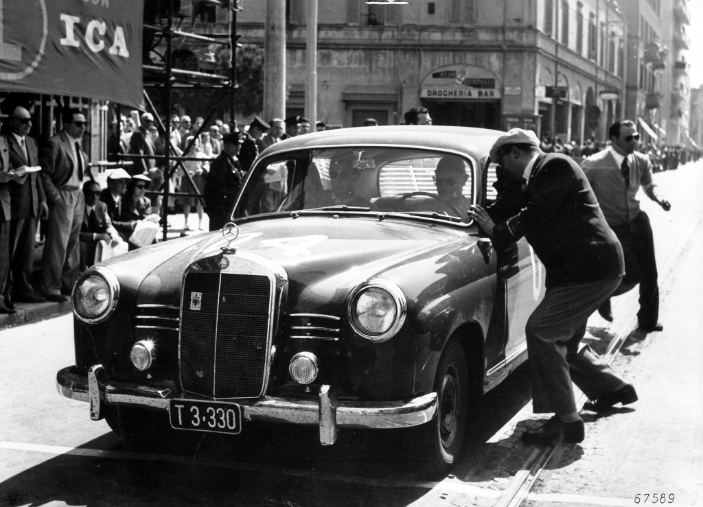 Not  TAxi but Diesel Class winner at the 1955 Mille Miglia