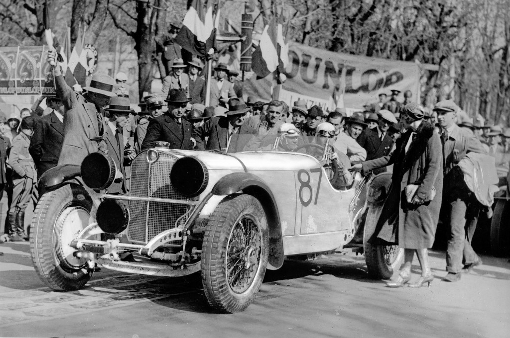 Mercedes-Benz SSK 1931 - Rudolf Caracciola and Wilhelm Sebastian winning the Mille Miglia