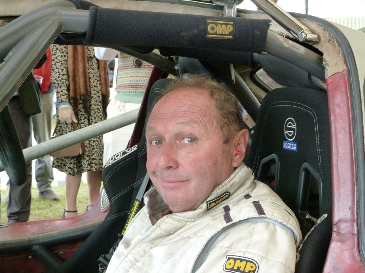 Jochen Mass after the race