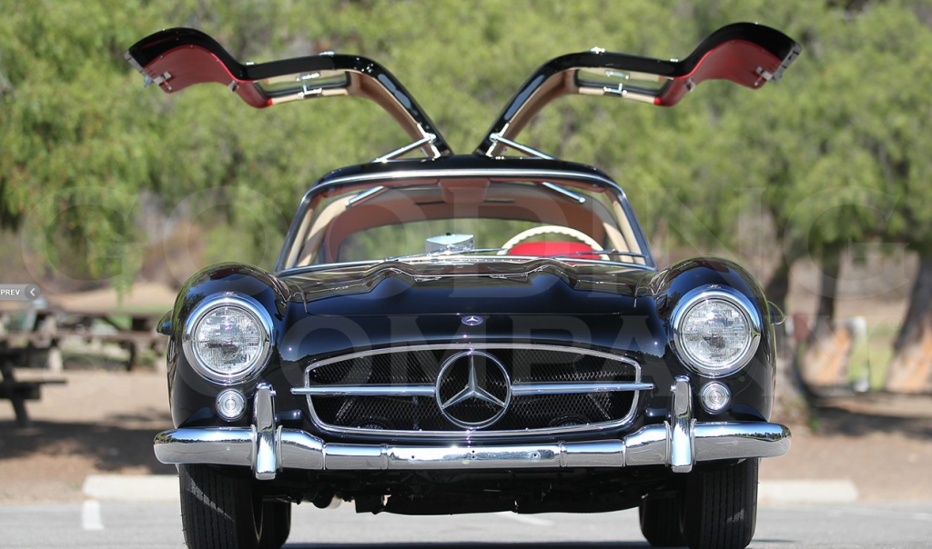 Black 1956 Gullwing - recently restored ©Gooding&Co.